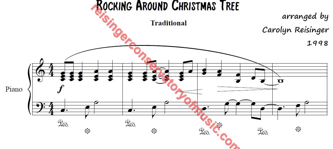 Rockin Around The Christmas Tree Piano Sheet Music.Rocking Around Christmas Tree Reisinger Conservatory Of Music